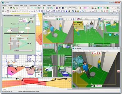 Professional design of cctv systems using cctv design software for Cctv layout software